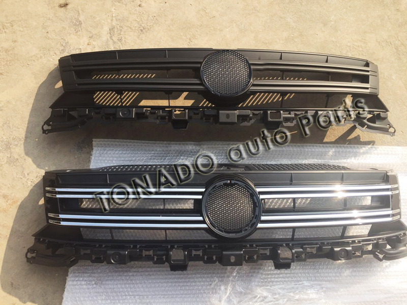 high quality vw tiguan Front Grille Around Trim Racing Grills Trim Next 1PCS for 2013-2015 Volkswagen Tiguan abs chrome front grille around trim racing grills trim for 2013 hyundai santa fe ix45