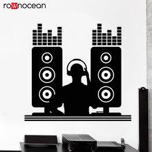 DJ Music Night Club Disc Jockey Musician Wall Stickers Vinyl Interior Decoration Bar Hip Hop Decals Removable Murals 3542
