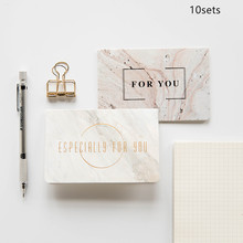 10sets Marble texture fashion Bronzing greeting card Envelope Fathers Day Greeting Card Creative Pattern