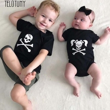 TELOTUNY child rompers youngsters halloween costumes youngsters Child Boys Women Cranium Print Romper Halloween Costume Outfits JXM Z0829