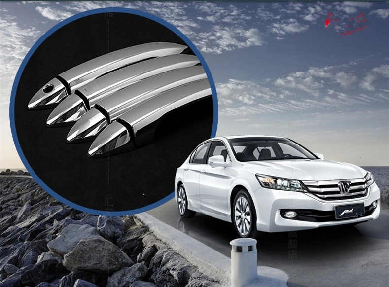 Funduoo For Honda Accord 2014 2015 2016 2017 Abs Chrome Door Handle Covers Auto Accessories 8 Pcs Aliexpress