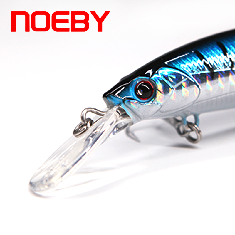 Minnow Sinking Lures 110mm 36g NOEBY Wobblers NBL 9448 French VMC Hook Crankbaits Hard Fake Baits Free Shipping
