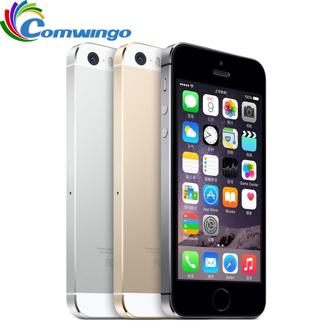 Unlocked Apple iphone 5s 16GB / 32GB / 64GB ROM IOS phone White Black Gold GPS GPRS A7 IPS LTE Iphone