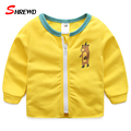 Jacket Children Boy 2017 New Spring Fashion Cartoon Pattern Baby Boy Jacket Long Sleeve O-neck Zipper Kids Clothes Boys 4856W