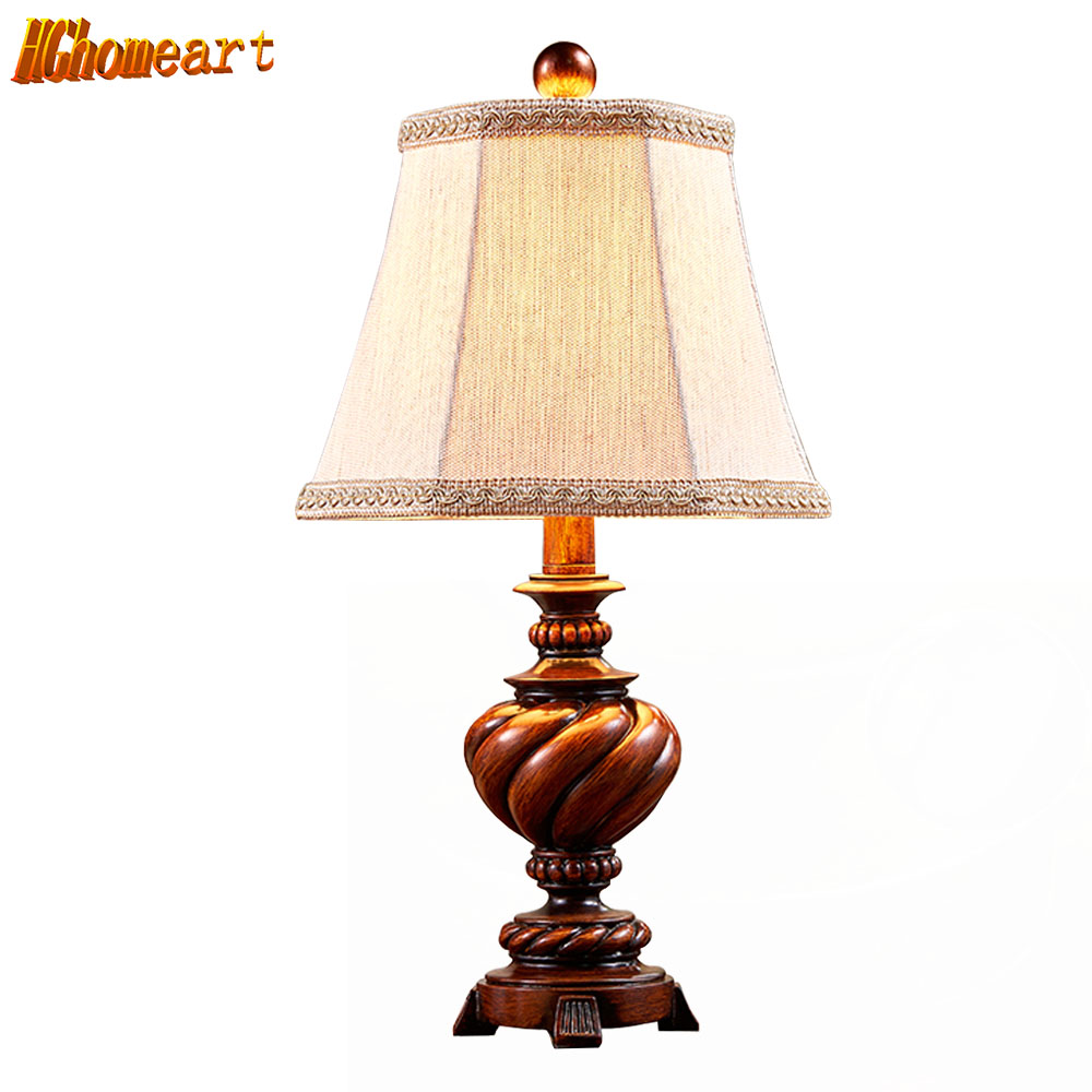 HGHomeart E27 Desk Lamp for Office Living Room Bedroom Bedside  LED Switch Button Modern Retro Table Light  110V/220V art deco black workroom table lamp e27 vintage retro robot desk light sconce for study bedroom bedside workshop office