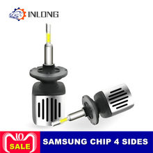 Inlong H4 H7 9005 9006 Car LED Headlight Bulbs H11 H9 D2S D1S HB4 D3S H1 D4S SAMSUNG CSP 60W 11200LM Headlamp Fog Lights 6500K(China)
