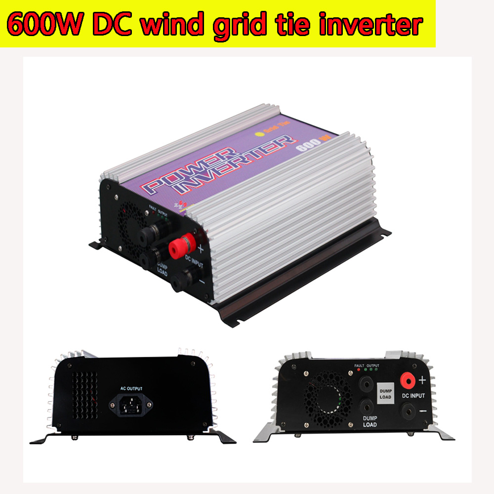 600W Wind Turbine Grid Tie Power Inverter with Dump Load Resistor MPPT Pure Since Wave 10.5-30V/22-60V DC Input Wind Turbine NEW solar power on grid tie mini 300w inverter with mppt funciton dc 10 8 30v input to ac output no extra shipping fee