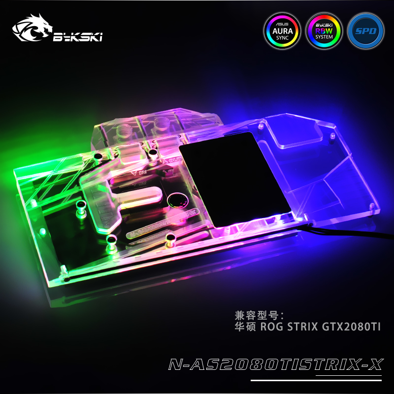 Bykski N-AS2080TISTRIX-X GPU Water Cooling Block for ASUS ROG STRIX RTX2080Ti O11G GAMING монитор 27 asus rog strix xg27vq черный 90lm03g0 b01970