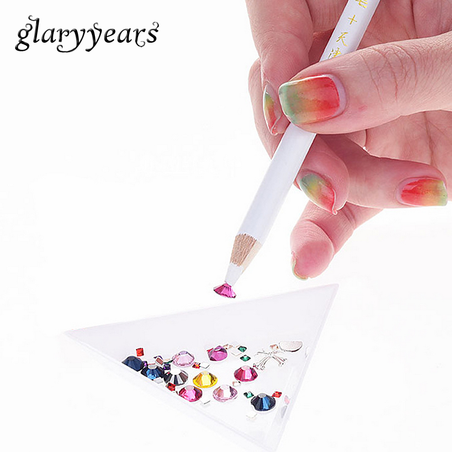 1 Piece Nail Art Dotting Pen Tool Wooden Pencil Picking Rhinestone