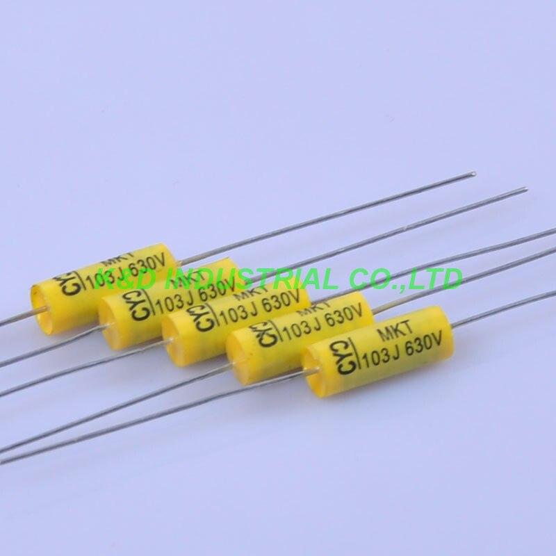 10 pcs Tubular Poly Axial Polyester Film Capacitor 0.01 uf 103 630 V amplificador de Guitarra