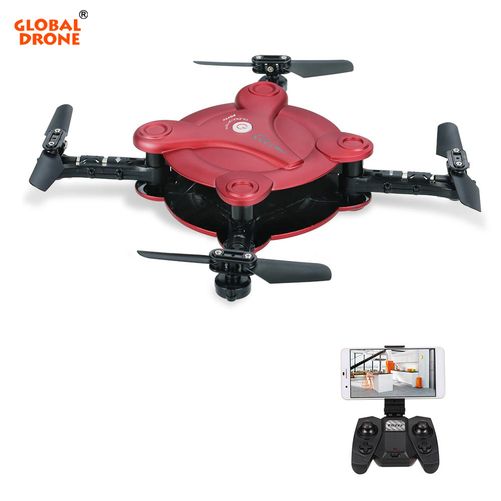 Global Drone FQ17W 6-Axis Gyro Mini Dron Foldable Drone With Camera 0.3MP FPV Altitude Hold RC Quadcopter VS E55 jmt cg030 foldable 0 3mp camera drone wifi fpv 6 axis gyro altitude hold headless rc quadcopter mini drone app control rc dron