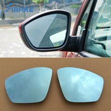 smRKE 2Pcs For Peugeot 307 Rearview Mirror Blue Glasses Wide Angle Led Turn Signals light Power Heating