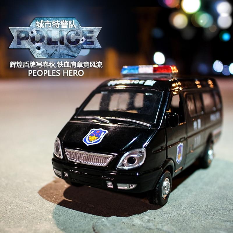 1/32 Scale Diecast Ryska GAZ Gazel Polis Ambulansmodellbil för - Bilar och fordon - Foto 6
