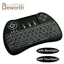 Backlit Wireless Mini Keyboard Rii i8 2.4 GHz H9 VS Air Tikus Backlight Touchpad untuk Android TV BOX X92 Laptop PS3 iPad Gamepad(China)