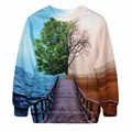S--XL New Autumn Women Loose Hoodies 3D Life Tree Digital Print Sweatshirt Harajuku Pullovers Tops Sweatsuit Couple Sweatshirts