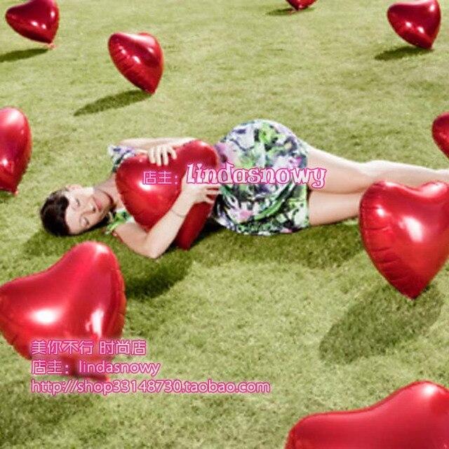 Birthday style aluminum foil aluminum balloon heart shape balloon sistance 18 love