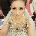 Real Photo Luxury Sparkly Strass Boleros De Casamento 2016 de Cristal Acessórios Do Casamento Xales De Noiva Jaquetas de novia B74 em Estoque