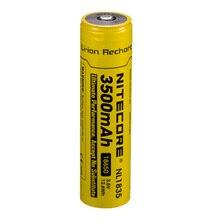 NITECORE 18650 3500 2600mah NL1835 3.6V 9.6Wh 充電式リチウムオン電池保護リチウムイオンボタントップバッテリー