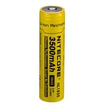 NITECORE 18650 3500 мАч NL1835 3,6 В 9,6 Вт/ч аккумуляторная литий ионная аккумуляторная батарея с защитой кнопки