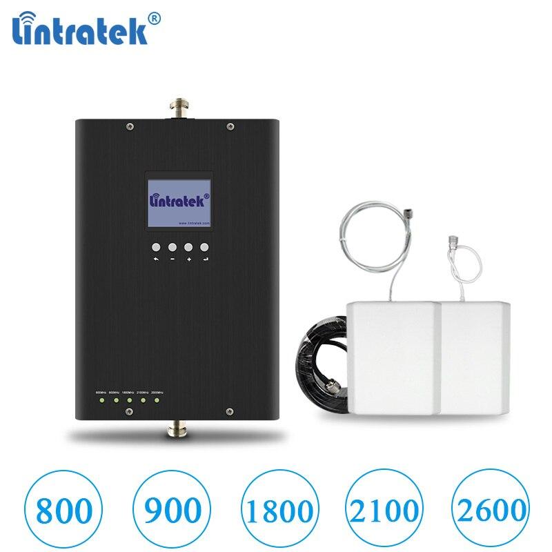 Lintratek nouveau 2G 3G 4G LTE Signal Booster 900 2100 1800 2600 800 Mhz 5 bandes amplificateur GSM B1/B3/B7/B20 répéteur GSM UMTS LTE #64