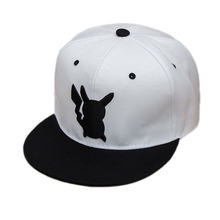цены Men Women Hats Anime Pokemon Baseball Cap Snapback Pocket Monster Sun Hat Cotton Cosplay Halloween Party Hats Props Hip-pop