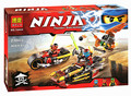 Hot 2016 10444 Ninjagoed Compatible Con Ninjagoed Ninja Bloques de Construcción de Ladrillo Juguetes Ninja Chariots Niños