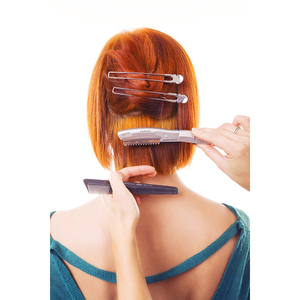 Image 5 - Бесплатная доставка ультразвуковой горячей вибрационный Бритва для волос с/человеческих волос США, ЕС Plug, тепла ножницами волосы триммеры L 538