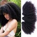 """8A cabelo Mongol Afro Crespo Encaracolado Extensões de Cabelo Humano 10-26 """"Mongolian Kinky Curly Virgin Cabelo Tece Rainha Ensolarado Produtos para o cabelo"""