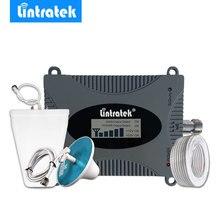Lintratek wyświetlacz LCD 4G LTE wzmacniacz sygnału 2600MHz 4G antena Mini FDD 4G LTE 2600 zespół 7 telefon komórkowy regenerator sygnału zestaw wzmacniacza @