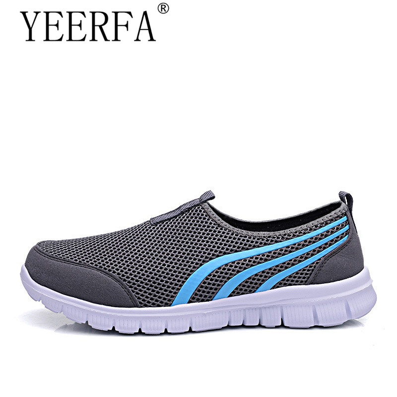 New 2018 Summer Fashion Men Sneakers Soft Light Comfort Casual Shoes Breathable Lovers Mesh Foowear Big Size 35-48 pinsen fashion women shoes summer breathable lace up casual shoes big size 35 42 light comfort light weight air mesh women flats