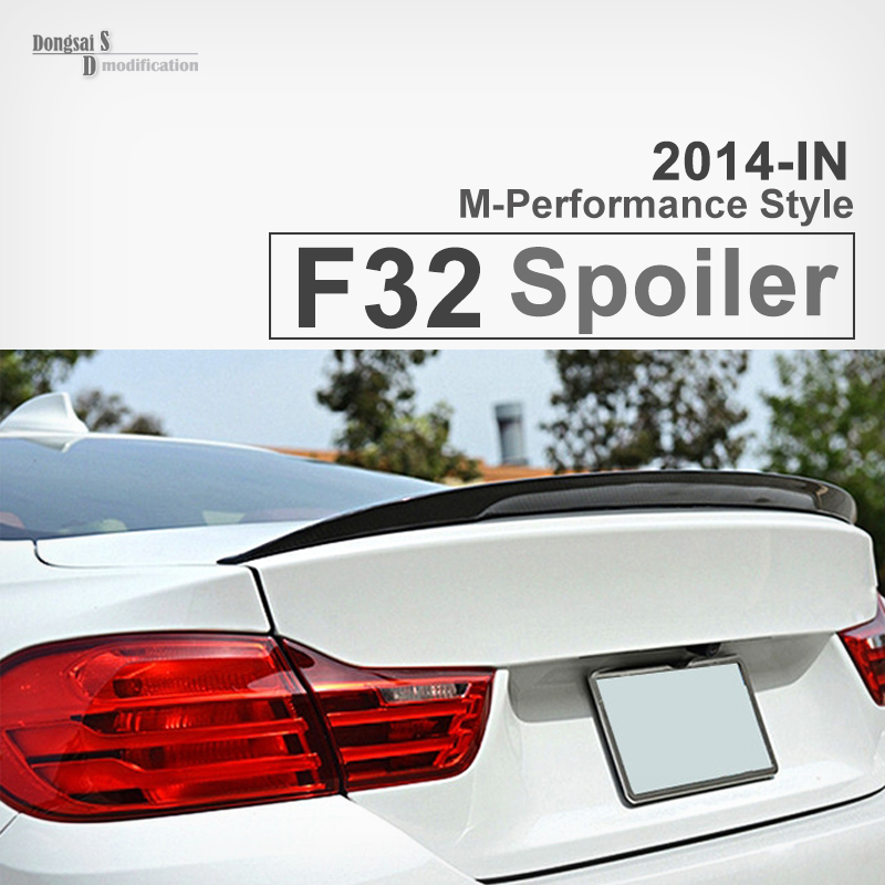 M performance style carbon fiber rear trunk spoiler wing for BMW 4 series F32 coupe 2013+ 420i 428i 435i 420d 425d 430d 435d 2pcs new style m performance side skirt sill decal stripe vinyl sticker for bmw 4 series f32 f33 420i 428i 435i