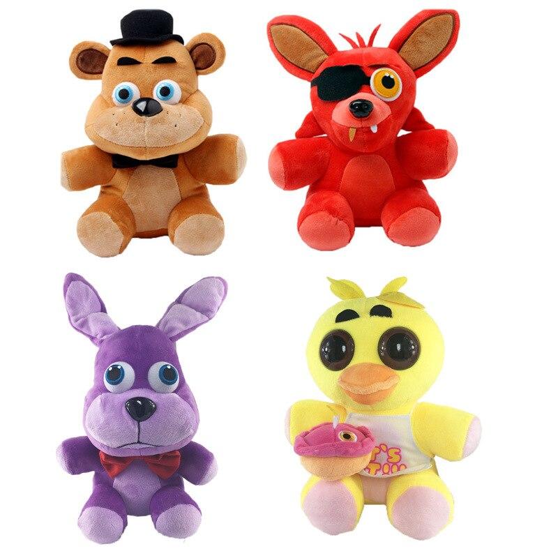 Freddy Figure Peluche Doll 25cm Soft Plush Five Nights At Freddys Fazbear Bear Foxy FNAF Anime figurines Stuffed Toys for Kids