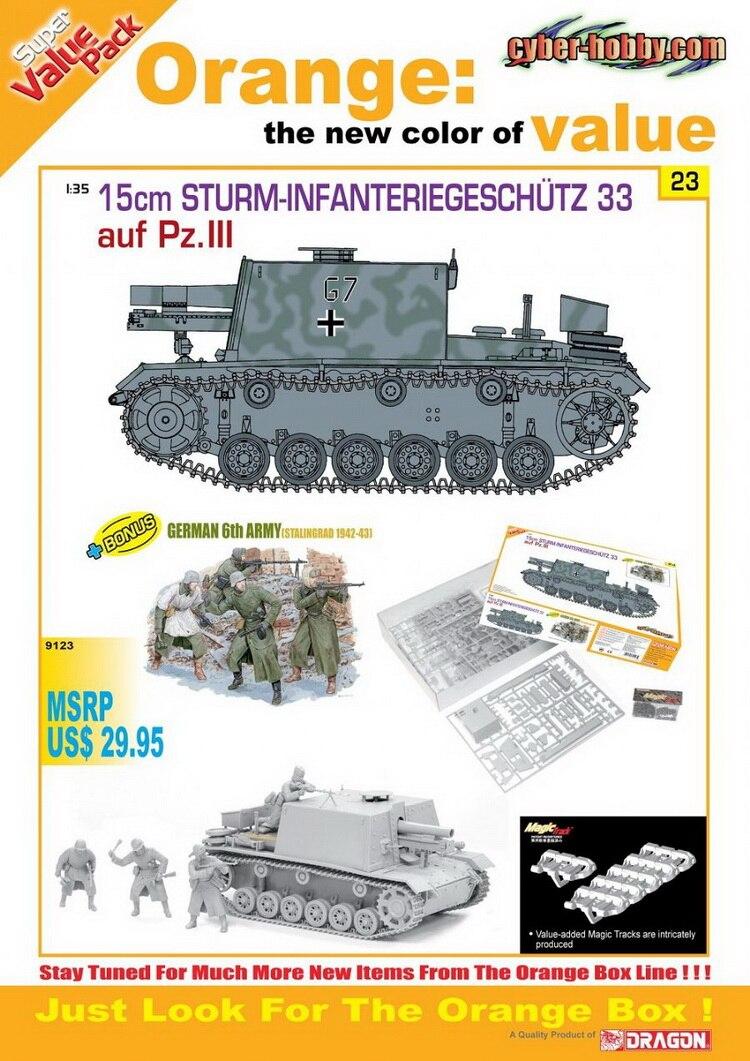 DRAGON 9123 1 35 15cm Sturm Infanteriegeschutz 33 auf PzIII