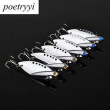 1Pcs Metal VIB Lures yellow and blue Vibration Spoon Lure Fishing Bass bait artificial cicada lure vib 10