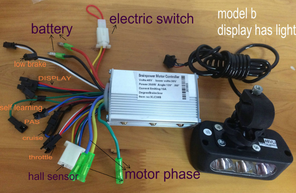 24v36v48v250w350w controller A/B&display with frontlight control panel electric scooter bicycle mtb pedal scooterparts free ship easy ride kids 2 pedal scooter dual pedal scooter double pedal scooter with brake and musical light and safety helmet 7 safer