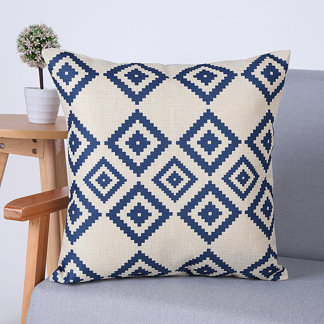 Colorful Geometric Patterns Decorative Pillow Covers