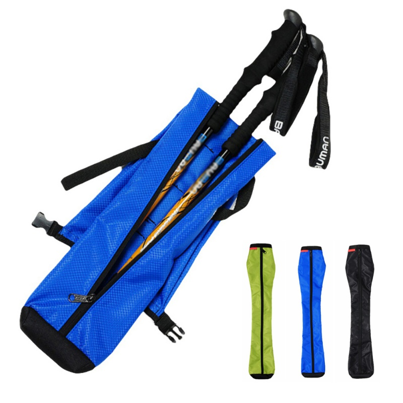 77x18cm Hiking Stick Carry Waterproof Bag Storage Case Trekking Crutch Stick Walking Pole Bag Pouch Pack Camping Equipment
