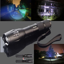 Zoomable Linterna Antorcha 5000LM XM-L T6 LED Linterna A Prueba de agua 5 led de modo de Zoom Luz de La Antorcha + 18650 + Cargador