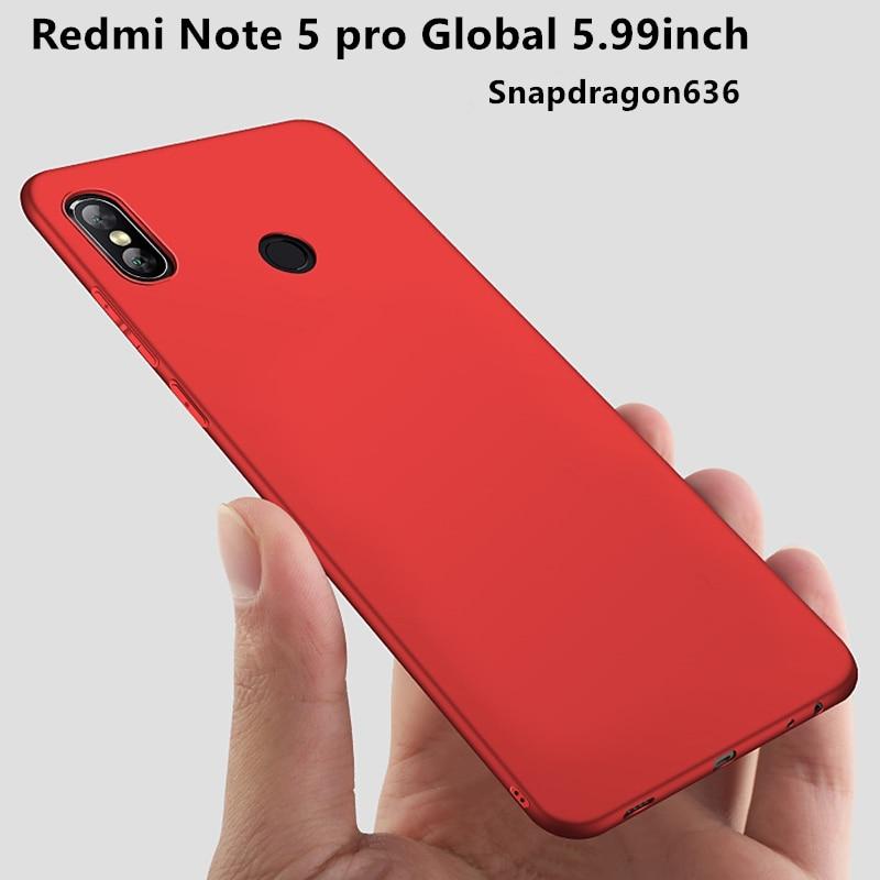 Xiaomi Redmi Nota 5 Pro Caso 64 GB cor Matte soft shell Capa de Silicone Para Note5 Global Prime Edição 5.99 polegadas Snapdragon636