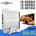 Fanless Barebone i5 Mini PC Computador Intel Nuc Win10 3 Anos de Garantia Core i3 i5 4200U 5005U 4 K HTPC TV Box DHL Frete Grátis