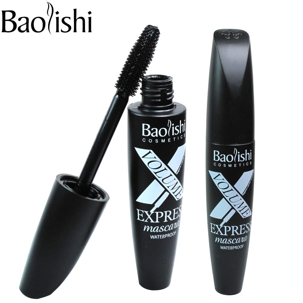 baolishi volym förlängning långvarig Mascara Black Ripple - Smink