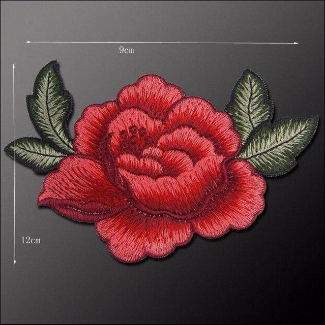 2 stks Leuke Kleurrijke Applique Bloemen Patch Geborduurde Naaien Kleding Tassen Handgemaakte DIY Craft Ornament Stof Sticker
