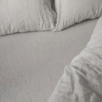 FLAX LINEN BED SHEET QUEEN SIZE BED FITTED SHEET WASHED PURE LINEN SHEETS CHILDREN LUXURY BED COVER BEDSPREAD 76X80X17
