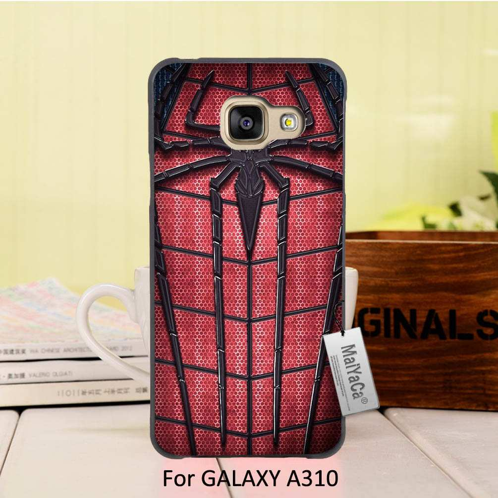 MaiYaCa Newest Fashion Luxury Black phone <font><b>case</b></font> <font><b>For</b></font> <font><b>Samsung</b></font> <font><b>Galaxy</b></font> A3 2016 <font><b>case</b></font> <font><b>Amazing</b></font> red <font><b>spider</b></font> and <font><b>man</b></font>