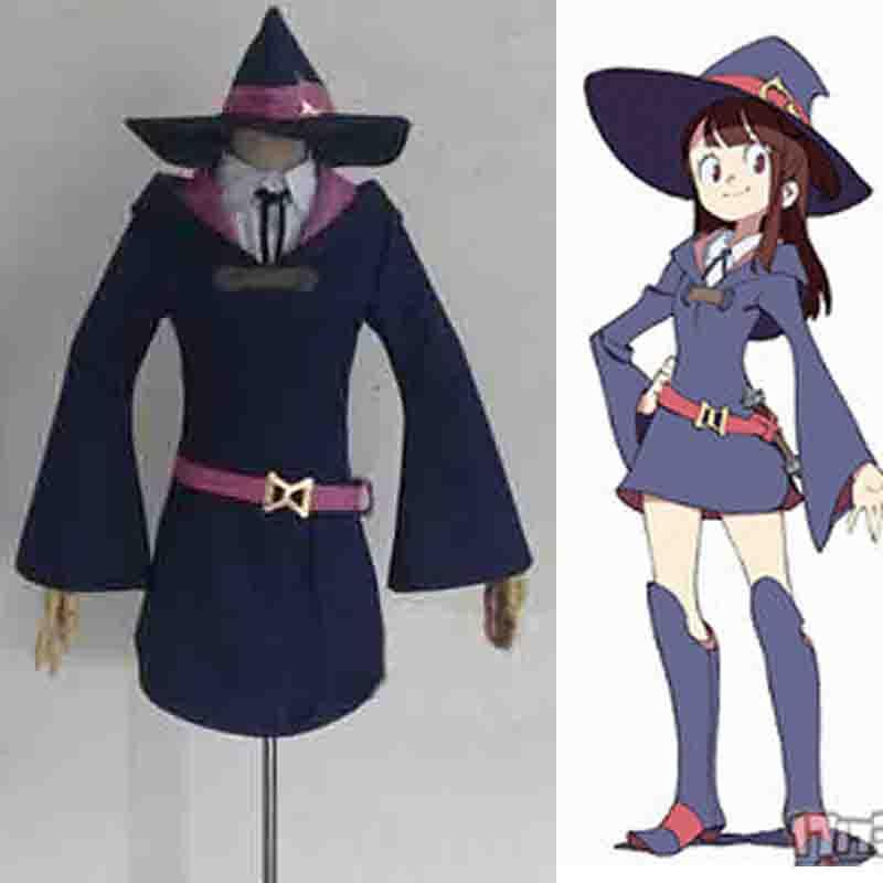 Anime Little Witch Academia Akko Kagari Cosplay Costum Custom Made