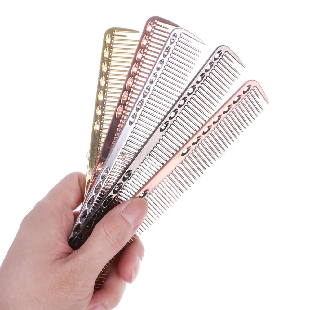 Colorful Aluminum Metal Cutting Comb Hair Hairdressing & Barbers Salon Combs Men Women New