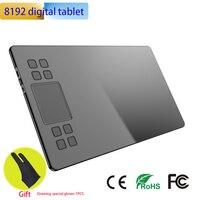 Графический планшет 8192 уровней Professional TYPE-C цифровые чертежные планшеты анимация батарея-бесплатно пассивный стилус и сочетания клавиш