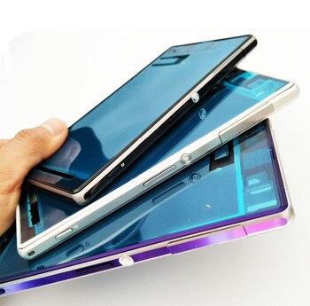 Original New Full Housing Faceplate Für Sony Xperia Z1 L39h C6903 Vorderen Gehäuse + Mittlere Platte + Batteriefach + mittleren Frame