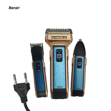 Hot Bensir Portable Electric Shaver EU Plug with Hair Cutter Twin Blades Multi-function Travel Use Safe Razor for Men Rscw-888 rscw 9001 portable shaver electric razor
