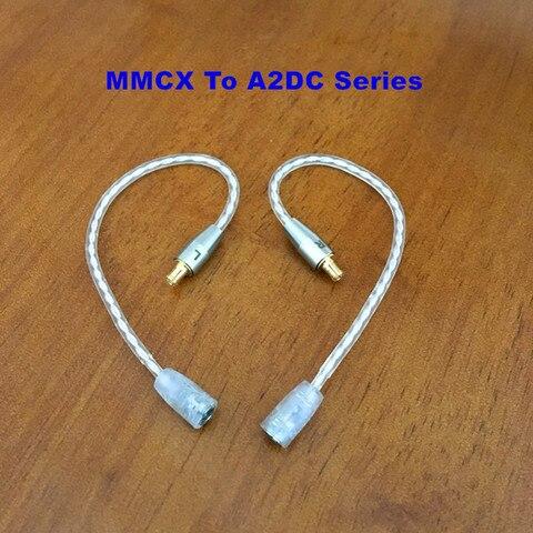 Adaptador de Fone de Ouvido Cabo de Fone de Ouvido Fone de Ouvido Acessórios para Shure Fêmea para 2pin Mmcx Milímetros A2dc Qdc Masculino Cabo 0.78 Im04 Ie80